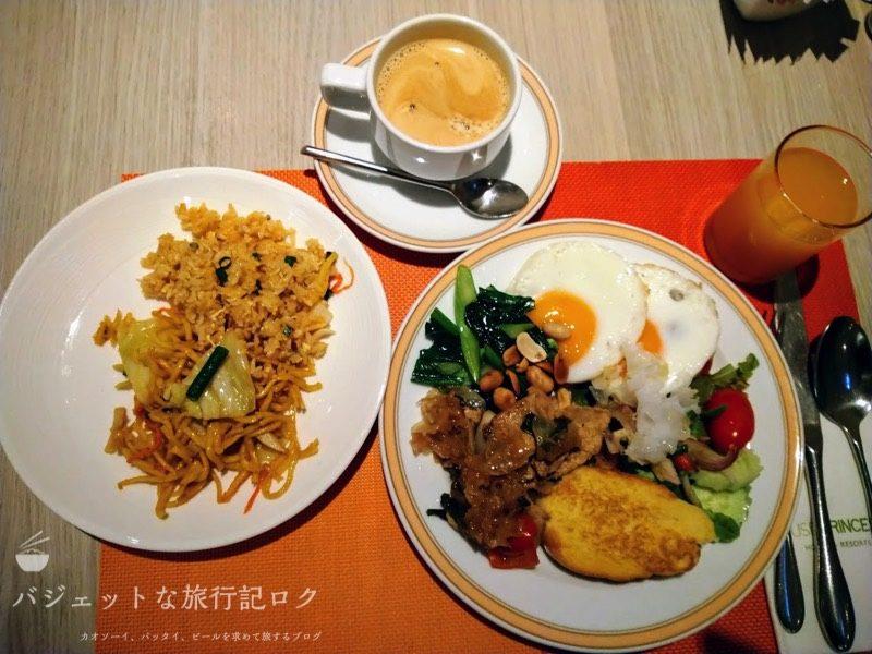 デュシット・プリンセス・チェンマイの朝食ビュッフェ:1日目の食事