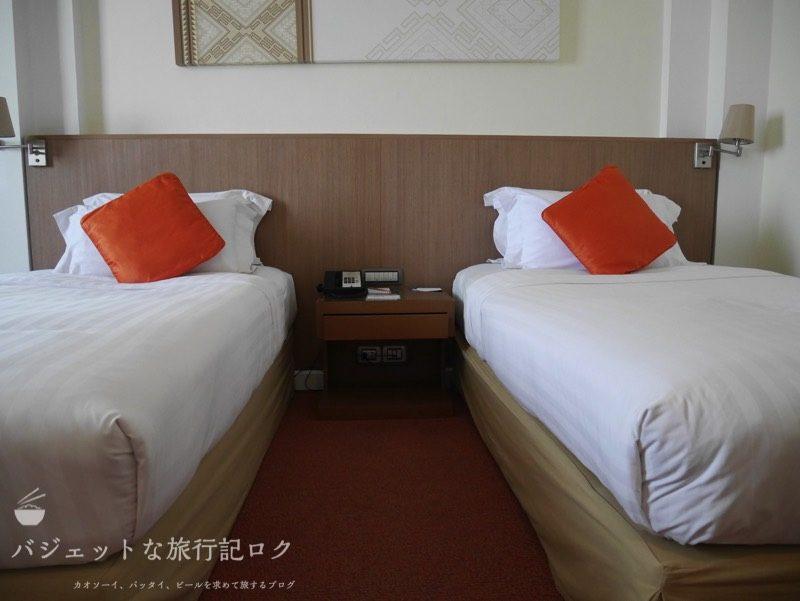 デュシット・プリンセス・チェンマイの客室ベッド(ツイン)