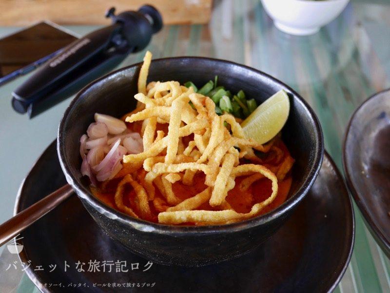 チェンマイ料理教室(カオソーイ:カレー粉潰すの辛かったんご)