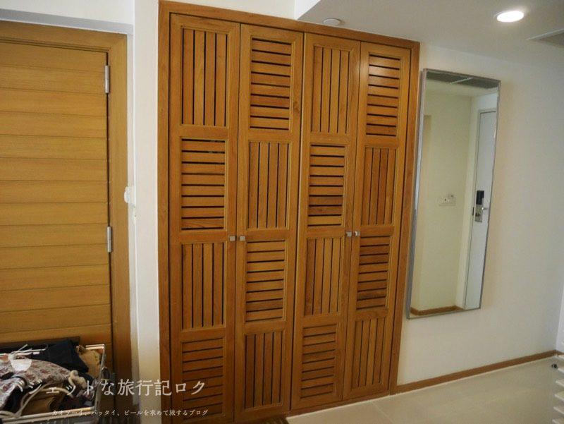 デュシットD2チェンマイ客室(クローゼット)