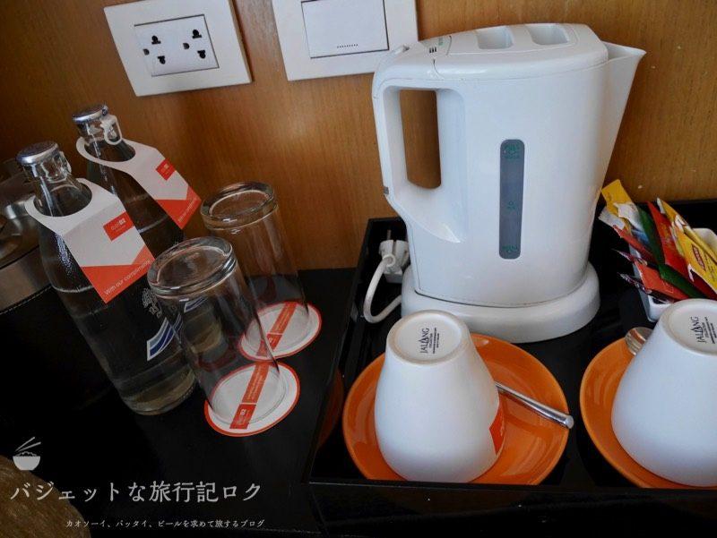 デュシットD2チェンマイ客室(ミネラルウォーターと紅茶)