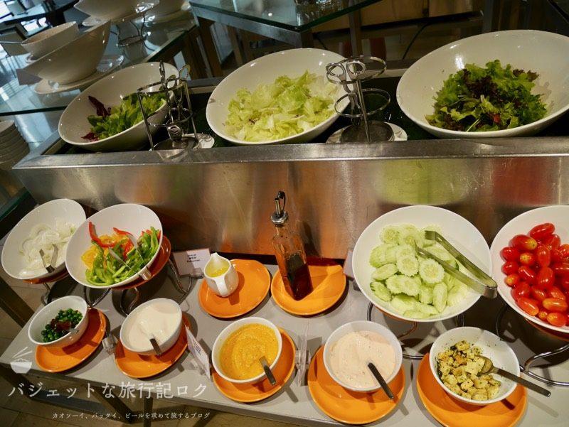 デュシットD2チェンマイの朝食ビュッフェ(サラダ類)