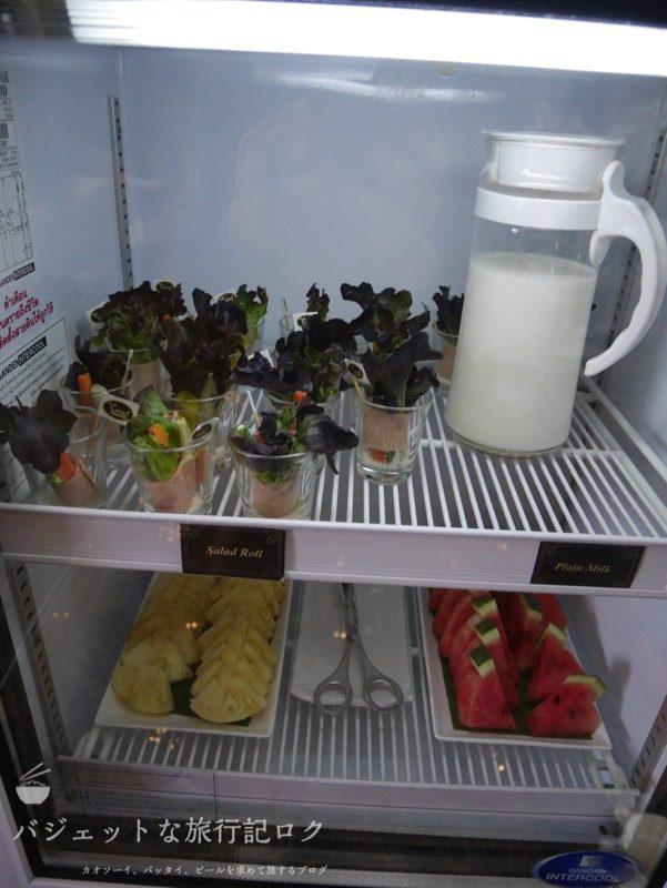 チェンマイ国際空港コーラル・エグゼクティブ・ラウンジの軽食(前菜)