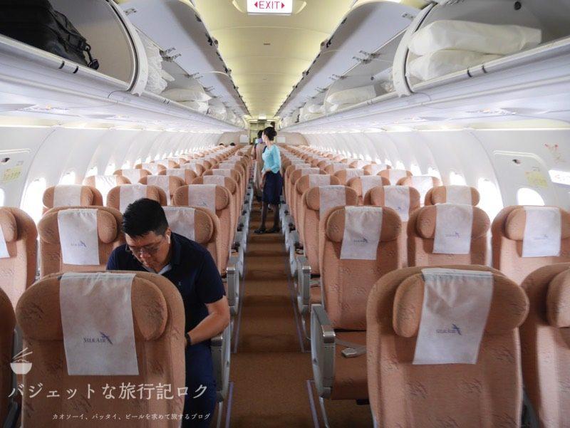 シルクエアーA320の機内へ搭乗