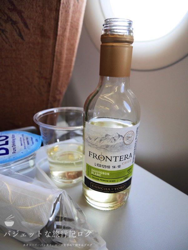シルクエアーA320機内食でいただいた白ワイン