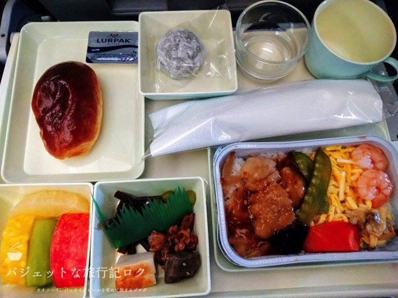 ベトナム航空エアバスA350-900エコノミークラス(機内食:和風魚料理)