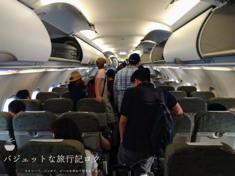 ハノイ・ノイバイ国際空港からバンコクへ移動する際に搭乗したA321。結局は遅延で降ろされた