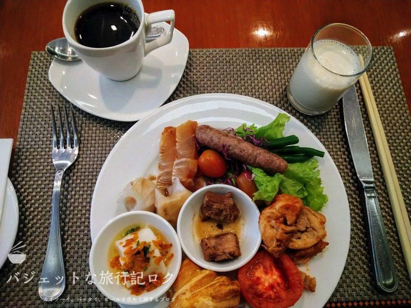 ベトナム・ホーチミンシティ1区のサイゴンプリンスホテル(朝食ビュッフェ・1日目の朝食)