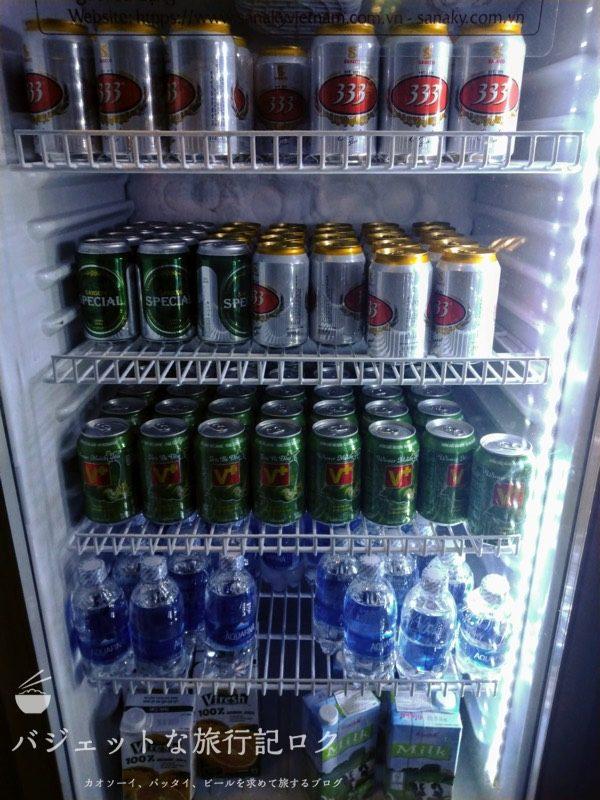 ホーチミンシティ・タンソンニャット国際空港(プライオリティパスで入れるオーキッドラウンジのアルコールとかドリンク類)