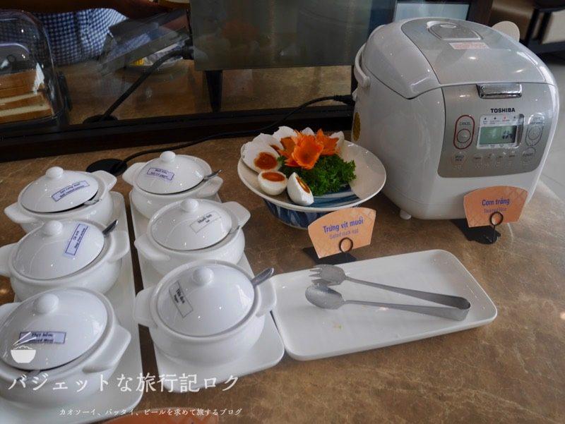 ハノイ・ノイバイ国際空港のプライオリティパスで入れるソン・ホン・ビジネス・ラウンジ(炊飯器、ご飯)