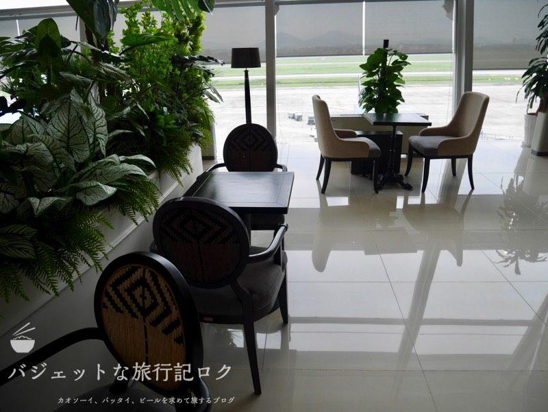 ハノイ・ノイバイ国際空港のプライオリティパスで入れるソン・ホン・ビジネス・ラウンジ(歓談できそうなスペース)