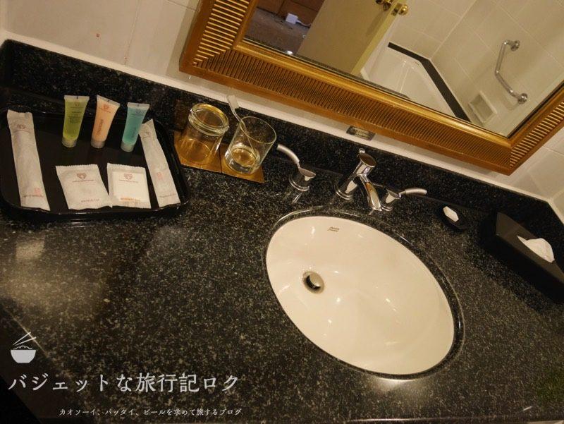 ベトナム・ホーチミンシティ1区のサイゴンプリンスホテル(シャワールームの洗面台)