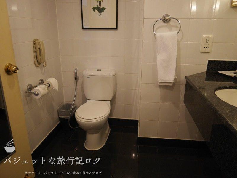 ベトナム・ホーチミンシティ1区のサイゴンプリンスホテル(バスルームのトイレ)