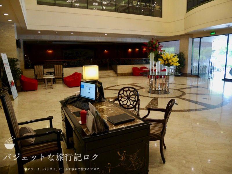 ベトナム・ホーチミンシティ1区のサイゴンプリンスホテル(ホテルロビーのインフォメーションデスク)