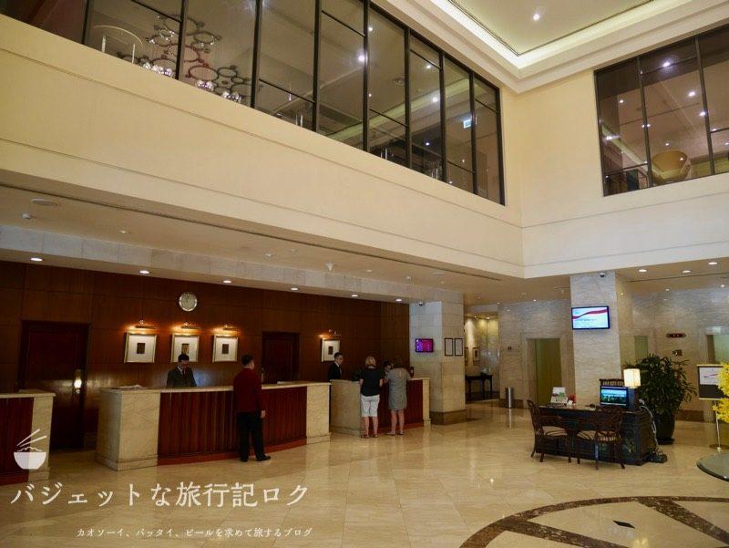 ベトナム・ホーチミンシティ1区のサイゴンプリンスホテル(ホテルのチェックインカウンター)