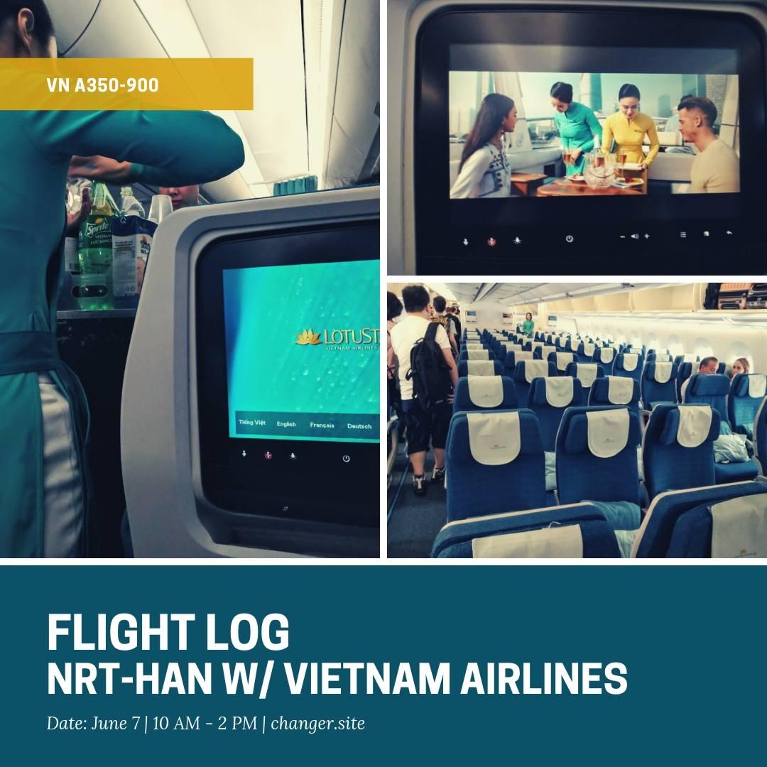 【搭乗記】ベトナム航空のエアバスA350-900で週末フライト。