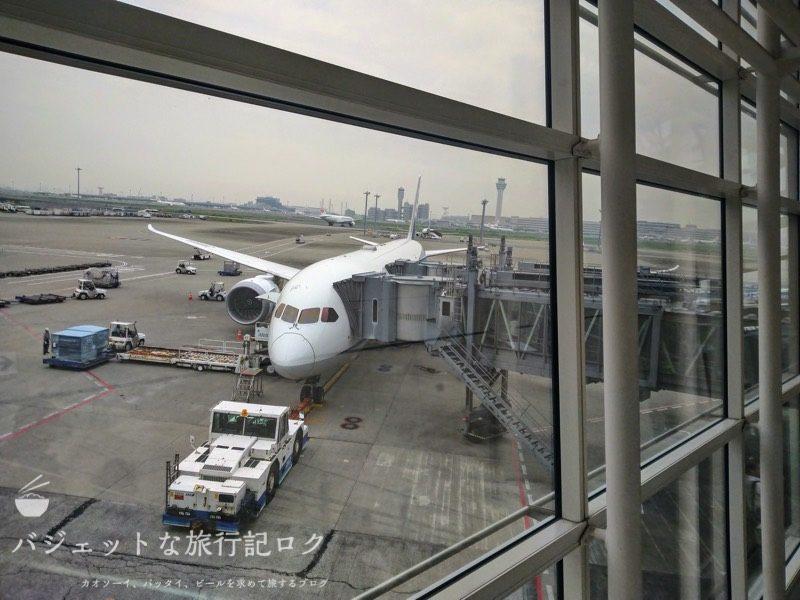 ANA搭乗機羽田からマニラ(NH869便)機内への搭乗