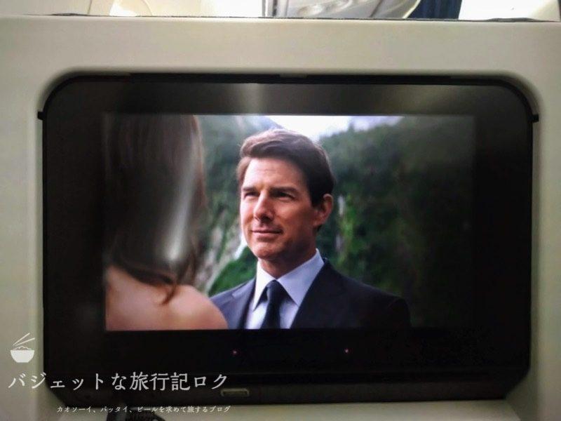 ANA搭乗機羽田からマニラ(NH869便) ミッション・インポッシブル6「フォールアウト」を鑑賞