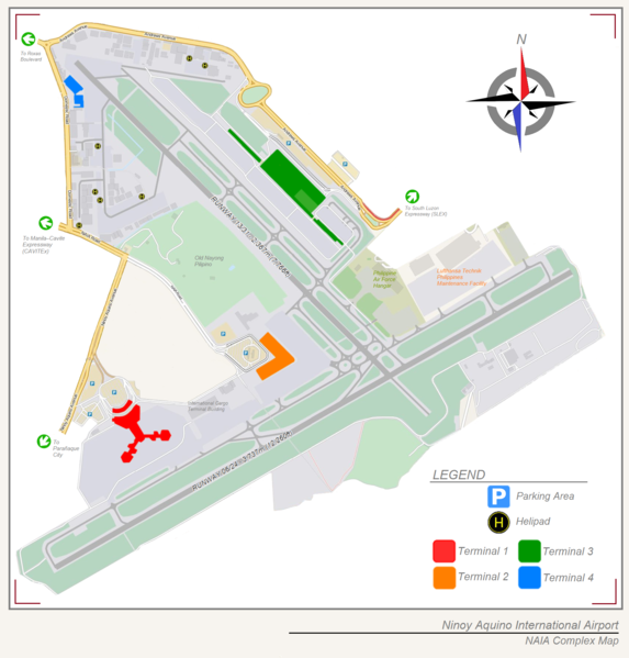 マニラ・ニノイアキノ国際空港マップ