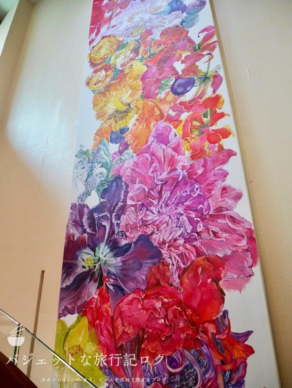 デュシタニマニラ・クラブラウンジ(階段にある見事な絵画)