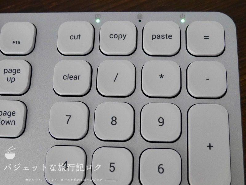 Satechi アルミニウム  Mac用USB有線キーボード(Caps Lockがオンの状態)