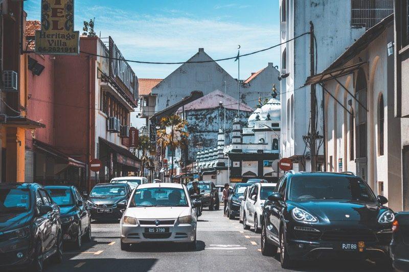 ペナン島の世界遺産の街、ジョージタウンを半日観光(ジョージタウン内の風景)