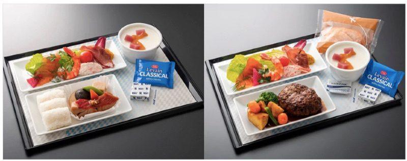 ANA国際線エコノミークラス/プレミアムエコノミーで楽しめる有料機内食(和洋の2種類)