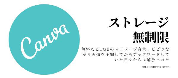 無料デザインツールCanva(有料だとストレージが無制限に使える)