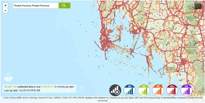 タイ・AISの人口カバー率、エリア(プーケット)