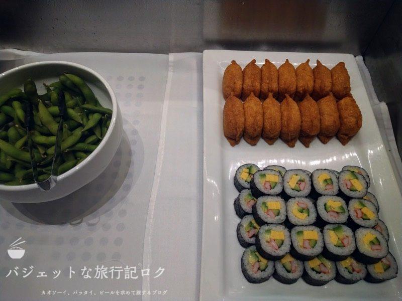 ANAはフィリピン航空のコードシェア便で使える成田空港アメリカン航空アドミラルズラウンジ(軽食、ご飯もの)