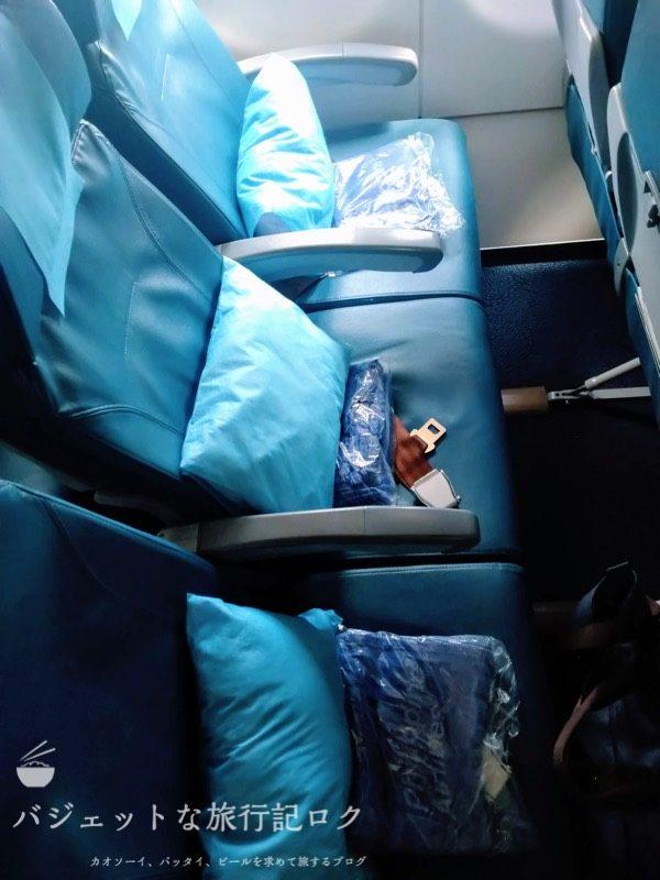 フィリピン航空 A321-231エコノミークラス搭乗記/PR427(エコノミークラスの座席3列)