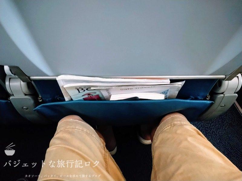 フィリピン航空 A321-231エコノミークラス搭乗記/PR427(エコノミークラスの座席足元)