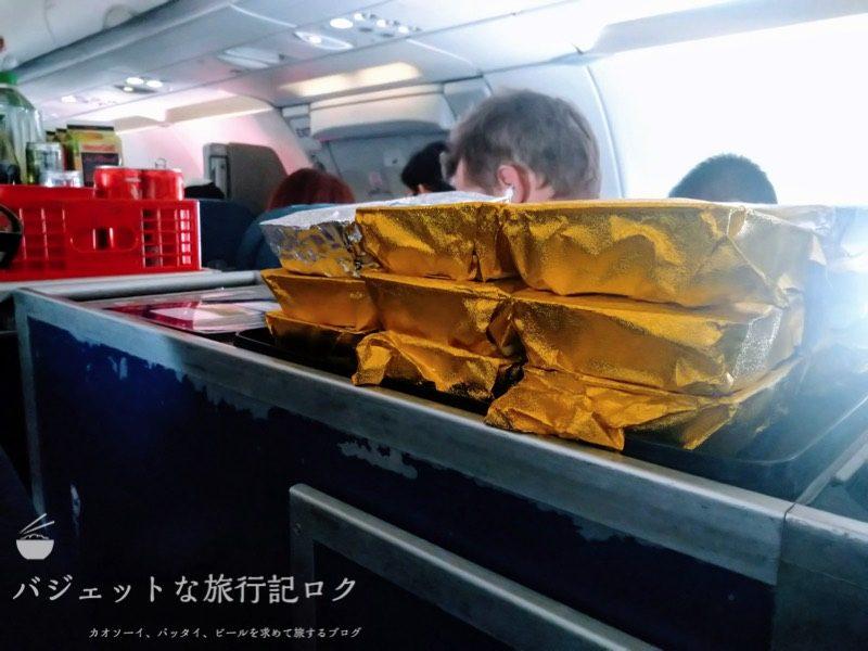 フィリピン航空 A321-231エコノミークラス搭乗記/PR427(目の前の配膳台)