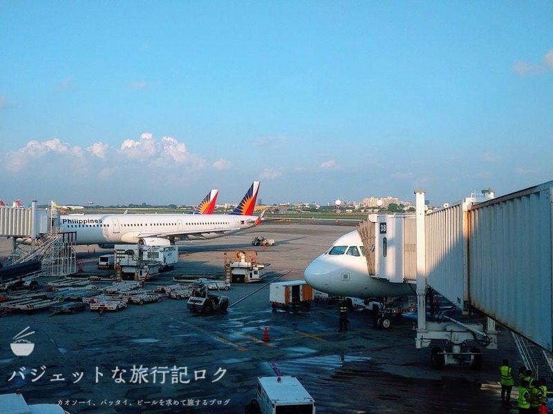 マニラ空港第2ターミナル搭乗口付近