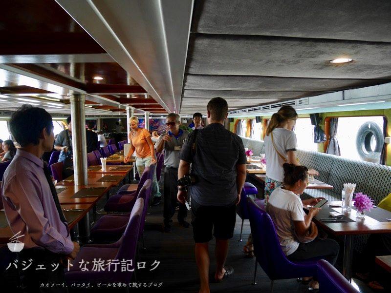 KKdayで廻る世界遺産アユタヤ観光(クルージングの船内)