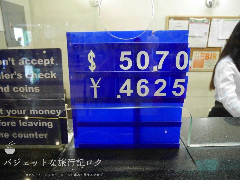 マニラ空港両替所レート比較(NAIAターミナル3到着階両替店)