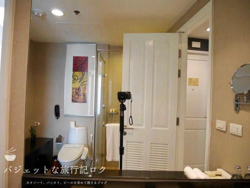 【宿泊記】デュシット・スイート・ホテル・ラチャダムリ・バンコク(シャワー・バスルーム)