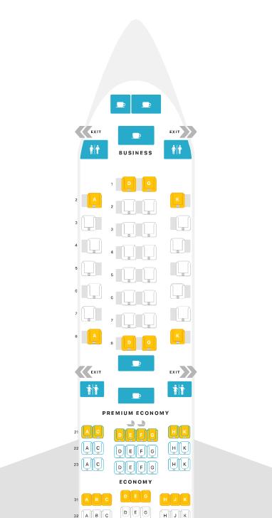 フィリピン航空A350-900へ搭乗。二転三転プレミアムエコノミー(PR A350-900 PY-Cクラス座席)