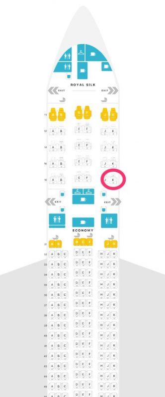 タイ国際航空 Boeing777-200(772) シート配列