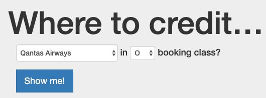 秀逸なマイル計算サイト・ツール・計算機「Where to Credit」(カンタス航空での積算率の試算)