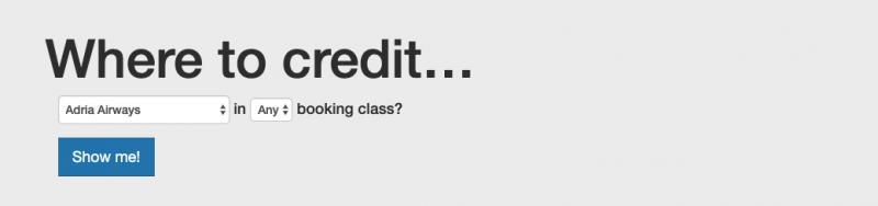 秀逸なマイル計算サイト・ツール・計算機「Where to Credit」(積算率計算のインターフェース)