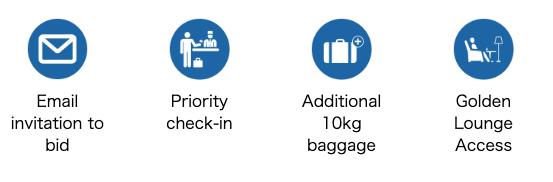 マレーシア航空のアップグレード入札「MHUpgrade」(アップグレードで得られる特典)