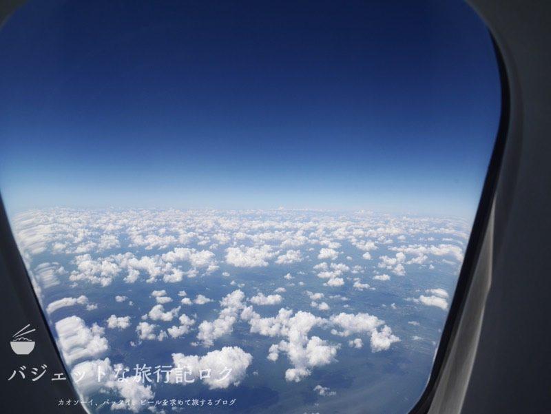 タイ国際航空ジャンボB747-400ビジネスクラス搭乗記(窓からの風景)