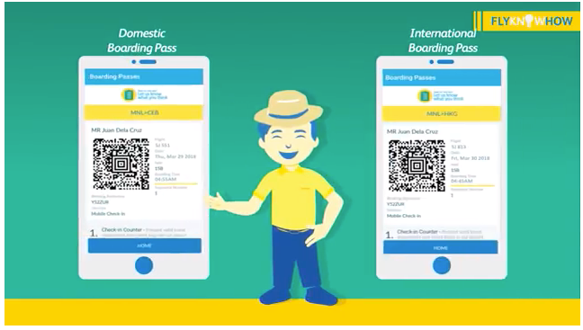 セブパシフィック航空のモバイルチェックイン(空港で使えるデジタル搭乗券はアプリの中に)