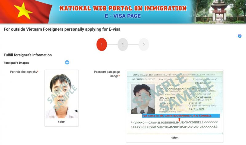 ベトナム30日以内の再入国で行った電子ビザ(E-Visa)申請(写真が二枚必要)