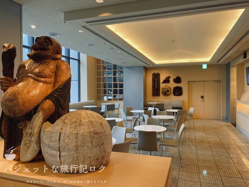 成田空港ユナイテッド航空・ユナイテッドクラブ・ラウンジ(なんて神様だっけ)