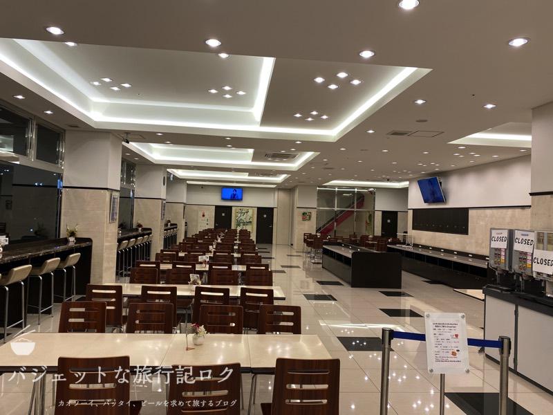 東横イン成田空港新館の宿泊記(1Fの広々とした食堂)