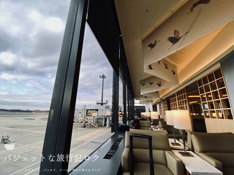 成田空港ユナイテッド航空・ユナイテッドクラブ・ラウンジ(窓際の席が特等席)