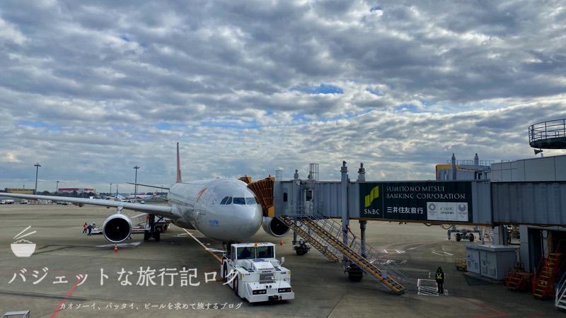 アシアナ航空A330-300ビジネスクラス2連続搭乗記(本日お世話になる機材)
