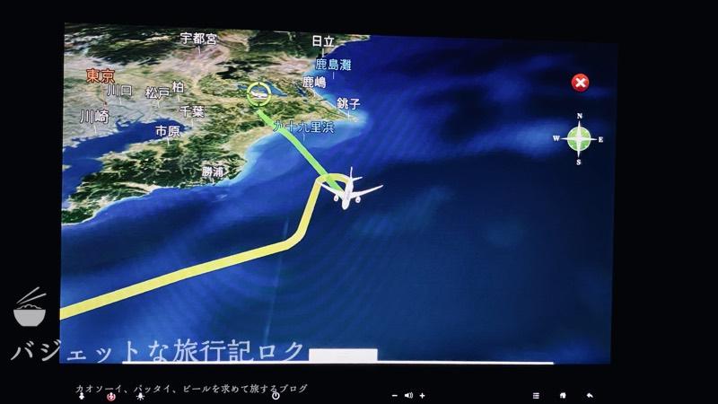 JAL深夜便B787-9フルフラットシート・ビジネスクラス搭乗記(食事終わったら日本が近く、週明けも近く)
